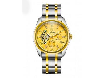 Relógio Tevise 8379A Masculino Automático Pulseira de Aço - Dourado