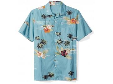 Camisa Floral Masculina - Azul