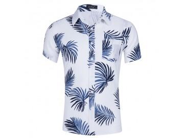 Camisa Floral Masculina - Branco