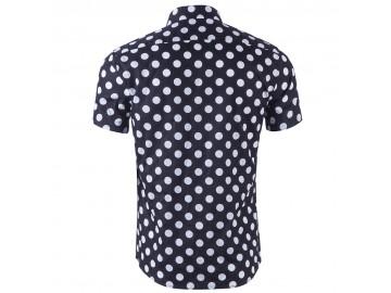 Camisa Estampada Masculina - Preto/Branco