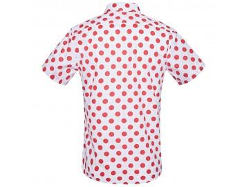 Camisa Estampada Masculina - Branco/Vermelho