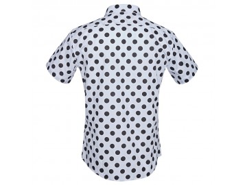 Camisa Estampada Masculina - Branco/Preto