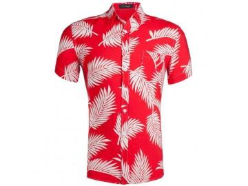 Camisa Estampada Masculina - Vermelho