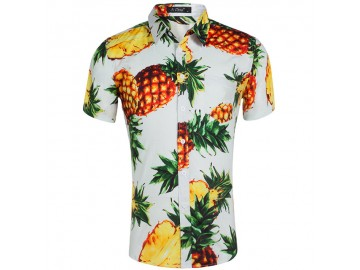 Camisa Estampada Masculina - Tropical