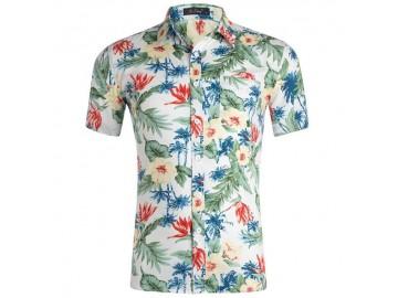Camisa Estampada Masculina - Floral Verde