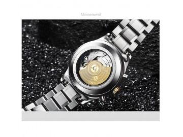Relógio Tevise T8122A Masculino Automático Pulseira de Aço - Branco