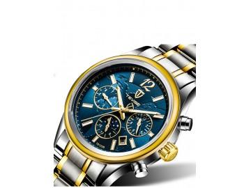 Relógio Tevise T8122A Masculino Automático Pulseira de Aço - Azul