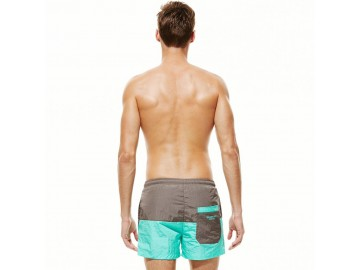 Short Masculino Tropical - Cinza/Azul