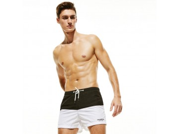 Short Masculino Tropical - Preto/Branco