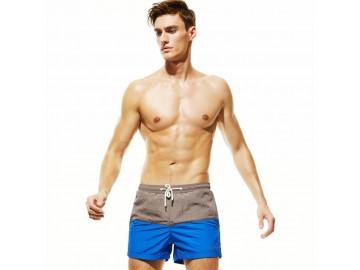 Short Masculino Tropical - Cinza/Azul Escuro