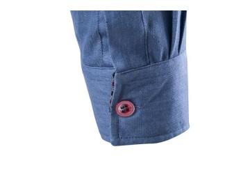 Camisas Jeans Masculinas Slim Fit Manga Longa - Azul Claro