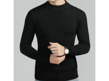 Pulover Masculino Elegante Basic Design - Preto