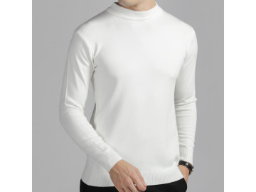 Pulover Masculino Elegante Basic Design - Branco
