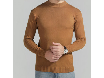 Pulover Masculino Elegante Basic Design - Marrom