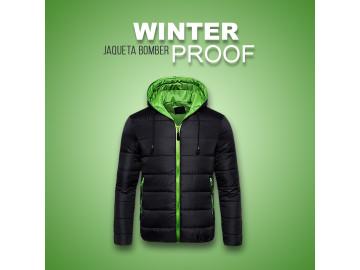 Jaqueta Bomber Winter Proof - Preta e Verde