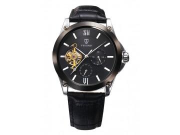 Relógio Tevise 8502 Masculino Automático Pulseira de Couro - Preto