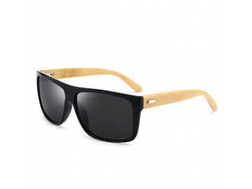 Kit com 2 Óculos Polarizado com Hastes em Bambu - Preto e Azul