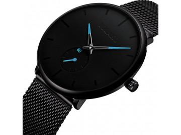 Relógio Masculino Yolako Pulseira em Malha de Aço Inoxidável - Preto