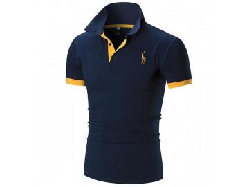 Kit 2 Camisas Polos Masculina Animals - Branco/Azul