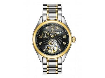 Relógio Tevise 8031 Masculino Automático Pulseira de Aço - Preto e Dourado