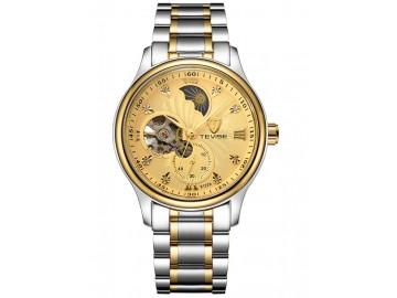 Relógio Tevise 8122A Masculino Automático Pulseira de Aço - Dourado
