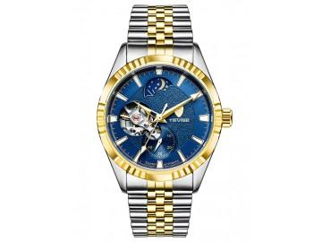 Relógio Tevise T629B Masculino Automático Pulseira de Aço - Azul e Dourado