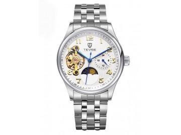 Relógio Tevise 8466 Masculino Automático Pulseira de Aço - Branco