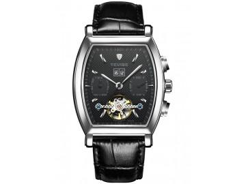 Relógio Tevise 8383B Masculino Automático Pulseira de Couro - Preto