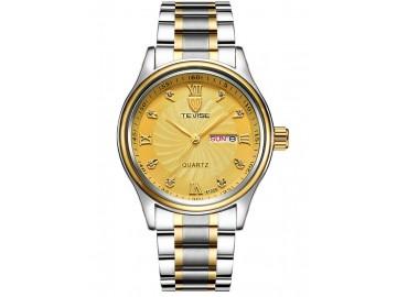 Relógio Tevise 8122Q Masculino Automático Pulseira de Aço - Dourado