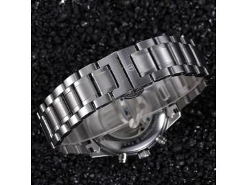 Relógio Tevise 5351 Tourbillon Masculino Automático Pulseira de Aço - Branco