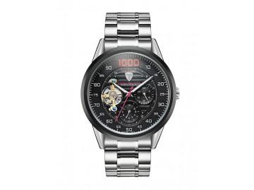 Relógio Tevise 8378 Masculino Automático Pulseira de Aço - Preto