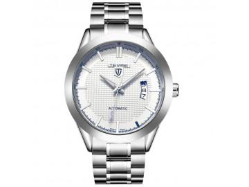 Relógio Tevise  393A Masculino Automático Pulseira de Aço - Branco