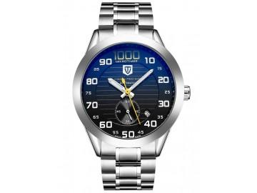 Relógio Tevise  393B Masculino Automático Pulseira de Aço - Preto