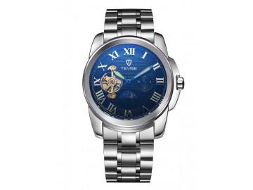 Relógio Tevise 999 Masculino Automático Pulseira de Aço - Preto