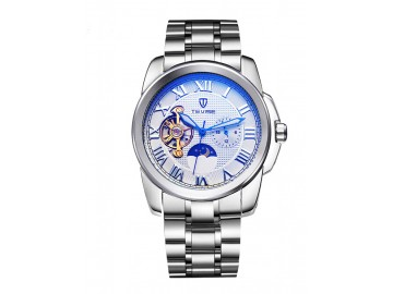 Relógio Tevise 999 Masculino Automático Pulseira de Aço - Branco