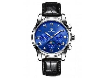 Relógio Tevise 9008 Masculino Automático Pulseira de Couro - Azul