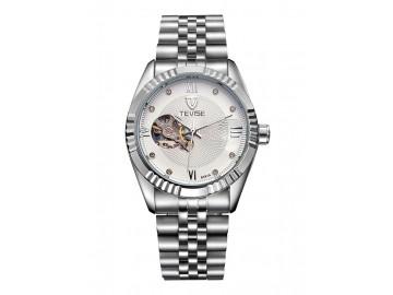 Relógio Tevise 8391A Masculino Automático Pulseira de Aço - Branco