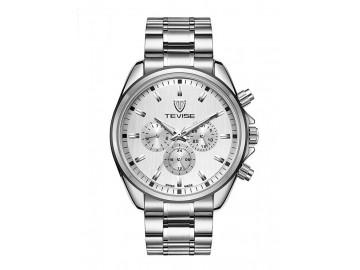 Relógio Tevise 8377 Masculino Automático Pulseira de Aço - Branco
