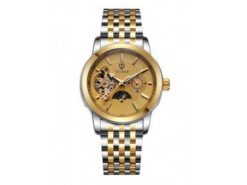 Relógio Tevise 8408 Masculino Automático Pulseira de Aço Inoxidável - Dourado