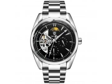 Relógio Tevise 795A Masculino Automático Pulseira de Aço Inoxidável - Preto