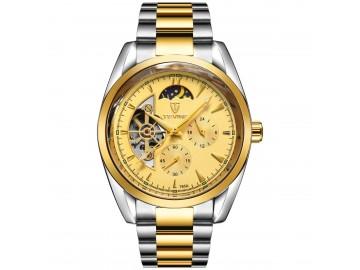Relógio Tevise 795A Masculino Automático Pulseira de Aço Inoxidável - Dourado