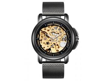 Relógio Tevise 8368 Masculino Automático Pulseira de Aço Inoxidável - Preto