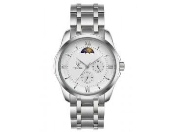 Relógio Tevise 9036G Masculino Automático Pulseira de Aço Inoxidável - Branco