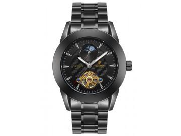 Relógio Tevise 8378 Masculino Automático Pulseira de Aço Inoxidável - Preto