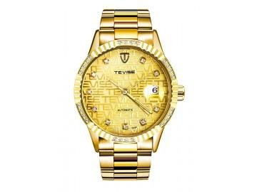 Relógio Tevise T629C Masculino Automático Pulseira de Aço Inoxidável - Dourado