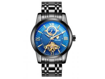 Relógio Tevise T805D Masculino Automático Pulseira de Aço Inoxidável - Azul
