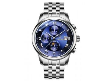 Relógio Tevise 9008 Masculino Automático Pulseira de Aço Inoxidável - Azul