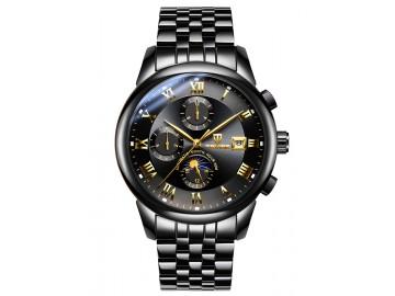 Relógio Tevise 9008 Masculino Automático Pulseira de Aço Inoxidável - Preto