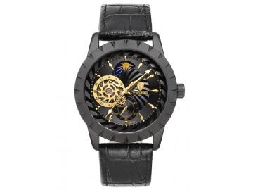 Relógio Tevise T810B Masculino Automático Pulseira de Couro Preto - Preto