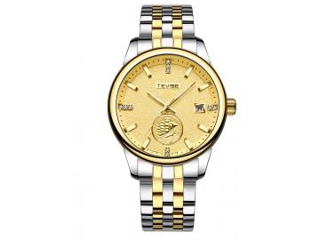 Relógio Tevise T818 Masculino Automático Pulseira de Aço Inoxidável - Dourado
